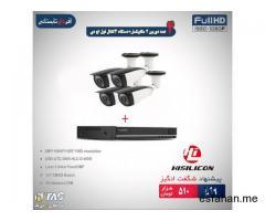 ۴ عدد دوربین ۲ مگاپیکسل + دستگاه ۴ کانال فول اچ دی